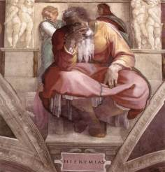 Jeremiah by Michelangelo c.1542-1545 Photo: Wikipedia