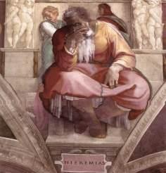 Jeremiah by Michelangelo c.1542-1545 Photo: Wikipedia