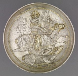 43 - Silver plate showing Shapur II